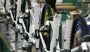 Bike Assembly Line Using RFID Assembly Error Proofing that can be tracked with InformaTrac Pro