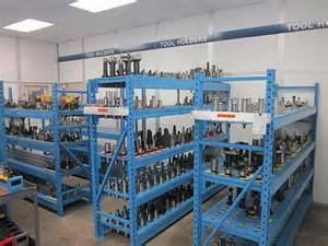 Tool crib store room where tools can be checked in and out with RFID using InformaTrac Pro