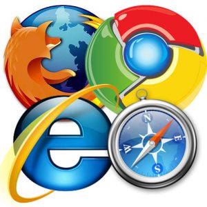Firefox, Chrome, Internet Explorer and Safari Internet Browswers