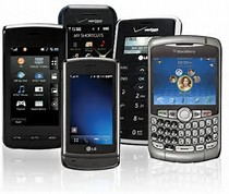 Variety of cell phones that can access data analytics using InformaTrac Pro