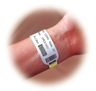 Wristbands used with barcode and RFID to track people with InformaTrac Pro